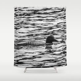 Loon Sighting Shower Curtain