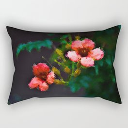 Flowers in the dark - Digital painting Rectangular Pillow