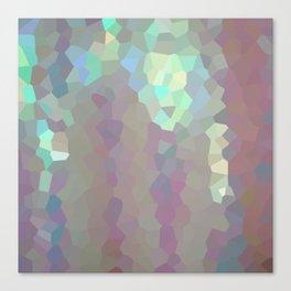 Iridescent Crystal Pattern Canvas Print