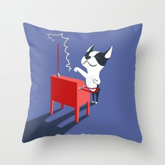 Boogie on Theremin Throw Pillow