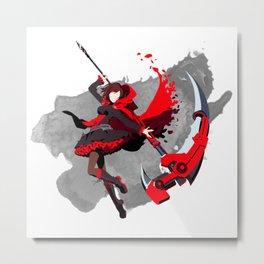 RWBY Minimalist (Ruby Rose) Metal Print