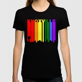 Knoxville Tennessee Gay Pride Rainbow Skyline T-shirt