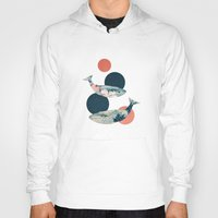 polka Hoodies featuring Whales and Polka Dots by Paula Belle Flores