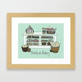British Bakery Framed Art Print