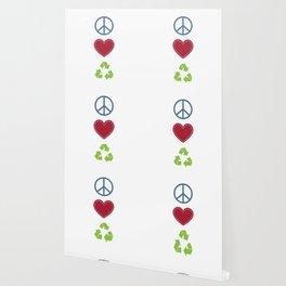 Peace Love Recycle Earth Day Environmental Awareness Wallpaper