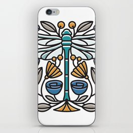 Dragonfly tile iPhone Skin