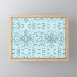 Fennel Seed in Blue Repeat Pattern Framed Mini Art Print
