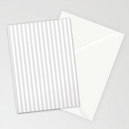 Vintage white gray elegant stripes pattern Stationery Cards
