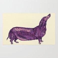 Dachshund / Wiener Dog (Dog Friends, II). Rug