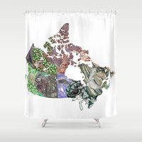 canada Shower Curtains featuring Canada by minouette