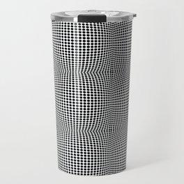 op art - dot bulge Travel Mug