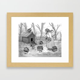 Baba Yaga and Her Chickens Framed Art Print