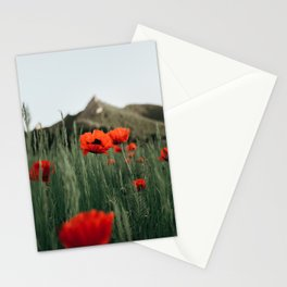 Poppies popping at Chautauqua Park Stationery Cards