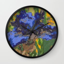 #012 - Beaded Iris Wall Clock