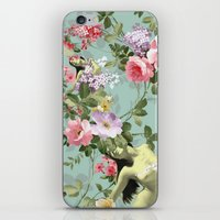 flora iPhone & iPod Skins featuring Flora by mentalembellisher