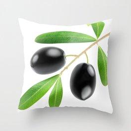 Black olives Throw Pillow