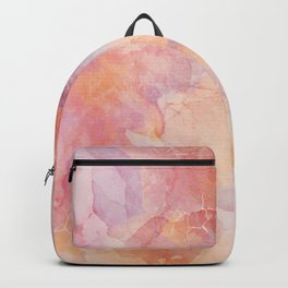 Cracked Watercolor on Canvas Backpack