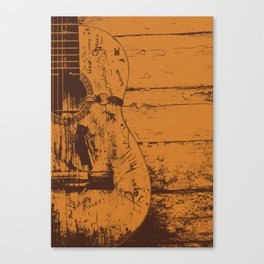 Trigger - Acoustic Guitar - Willie Nelson Canvas Print