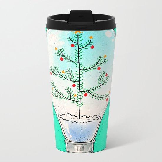 Christmas lamp Metal Travel Mug