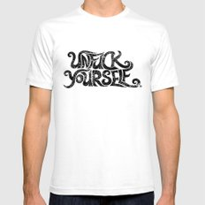 Unf***** yourself (b) Mens Fitted Tee White SMALL