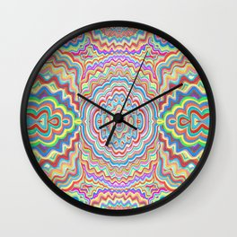 Squiggles Mirrored Wall Clock