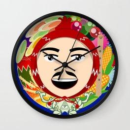 Luck in Circles - Ekeko Wall Clock