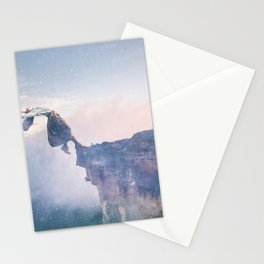Falling Stars Surreal Levitation Off a Cliff Stationery Cards