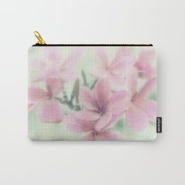 Plumeria Mint Green Carry-All Pouch