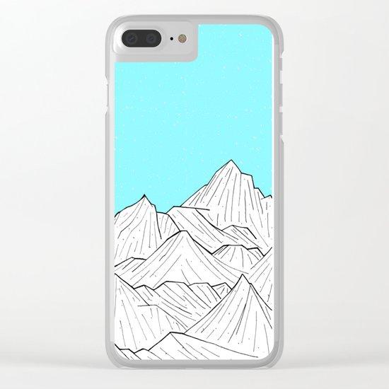 Glacier Mounts Clear iPhone Case
