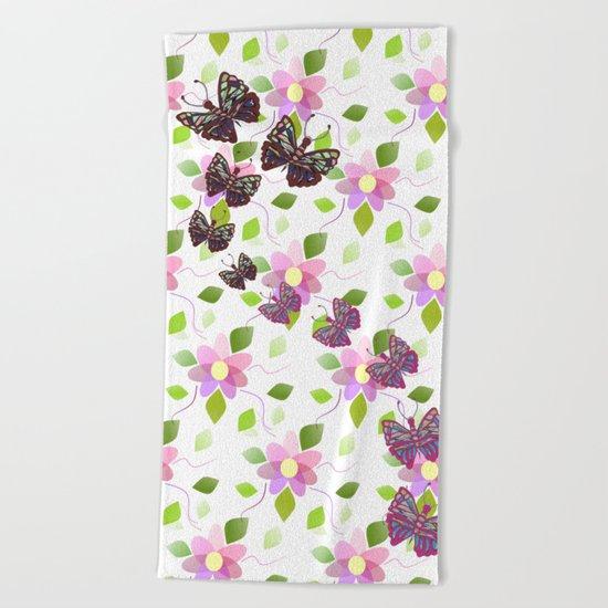 Heavenly Botanical Beach Towel