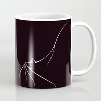 bat man Mugs featuring BAT MAN by MISTER BLACKWHITE