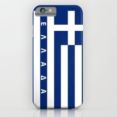 greece greek country flag ellada name text Slim Case iPhone 6s