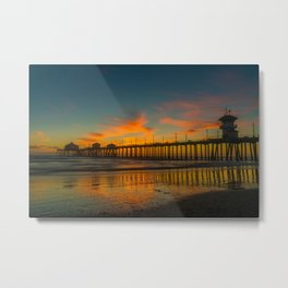 Looming Darkness at Low Tide Metal Print