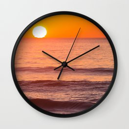 South Ponto Sunset 02 Wall Clock