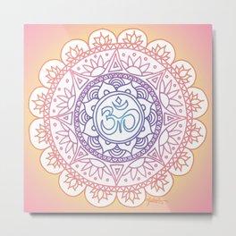 Peaceful Ohm Mandala Metal Print