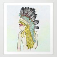 hunting Art Prints featuring Hunting // by Lukka