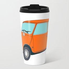 Orange Mini Cooper Travel Mug