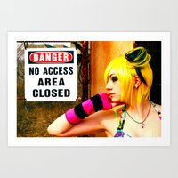 No Access Art Print