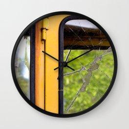 Junkyard School Bus Wall Clock