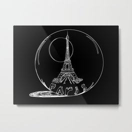Paris city in a glass ball . Home decor, art prints Metal Print