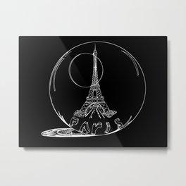 Paris city in a glass ball . Home decor, art prints Metal Print