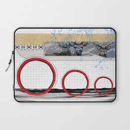 The Stags on the hill collage Laptop Sleeve