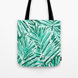 ON VACAY Green Palm Leaves Tote Bag
