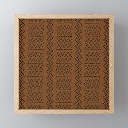 Dark mudcloth fabric print Framed Mini Art Print