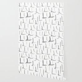 Watercolor L's - Grey Gray Wallpaper