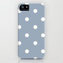 Carolina Blue Dotty iPhone Case