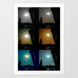 Ecliptical sun over Hollywood, CA Art Print