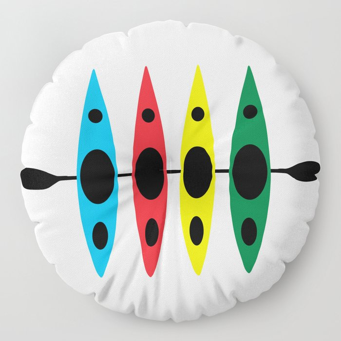 Four Kayaks | DopeyArt Floor Pillow