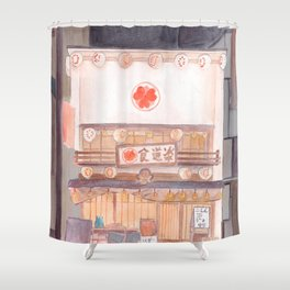 A shop front in Japan Shower Curtain