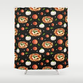 Neapolitan Pizza with  Shower Curtain